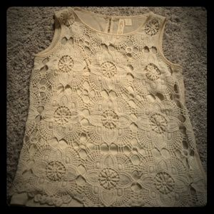 Nude Crocheted Tank